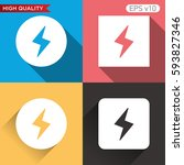 colored icon or button of flash ...   Shutterstock .eps vector #593827346