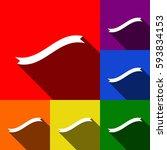banner ribbon sign. vector. set ...
