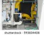 chemical pipe line in engineer... | Shutterstock . vector #593834408