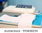 electrocardiogram  cardiac...   Shutterstock . vector #593838254