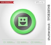 colored icon or button of smile ... | Shutterstock .eps vector #593838548
