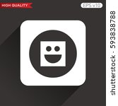 colored icon or button of smile ...   Shutterstock .eps vector #593838788