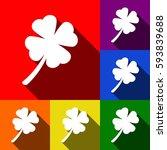 leaf clover sign. vector. set...