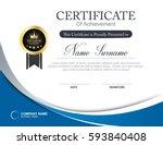 vector certificate template | Shutterstock .eps vector #593840408