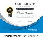 vector certificate template | Shutterstock .eps vector #593840414