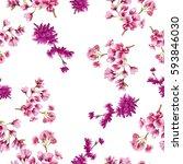 watercolor flowers. watercolor... | Shutterstock . vector #593846030