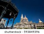 guadalajara cathedral  mexico   Shutterstock . vector #593849396