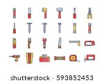 hand tool icon   Shutterstock .eps vector #593852453
