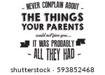 never complain about the things ... | Shutterstock .eps vector #593852468