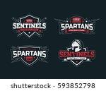 modern professional logo set ... | Shutterstock .eps vector #593852798