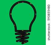 an idea light bulb that s also...   Shutterstock .eps vector #593855480