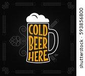 beer mug vintage design...   Shutterstock .eps vector #593856800