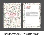 vintage flower background for...   Shutterstock .eps vector #593857034