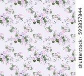 vintage feedsack pattern in... | Shutterstock . vector #593857844