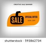 Creative Sale Banner With...
