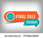 final sale banner  discount tag ... | Shutterstock .eps vector #593862884