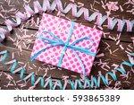 birthday background | Shutterstock . vector #593865389