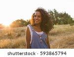 portrait outdoors of a... | Shutterstock . vector #593865794