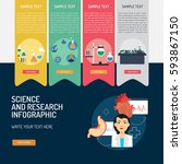 infographic science and research | Shutterstock .eps vector #593867150