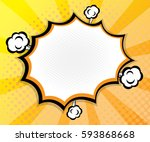 abstract pop art  comic book... | Shutterstock .eps vector #593868668