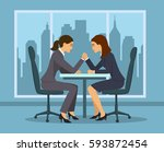 business competition concept .... | Shutterstock .eps vector #593872454