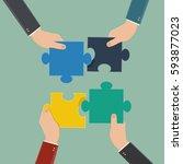 hand of business man  business... | Shutterstock .eps vector #593877023