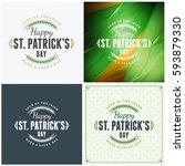 st. patricks day badge design.... | Shutterstock .eps vector #593879330