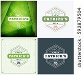 st. patricks day badge design.... | Shutterstock .eps vector #593879504
