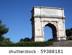the arch of titus  a first... | Shutterstock . vector #59388181