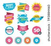 sale banners  online web... | Shutterstock .eps vector #593884460