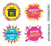sale splash banner  special... | Shutterstock .eps vector #593886590