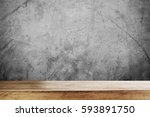 wooden table top with defocus... | Shutterstock . vector #593891750