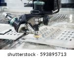 operator use edm electrod to... | Shutterstock . vector #593895713