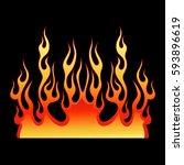 flame vector car  fire art ... | Shutterstock .eps vector #593896619