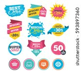 sale banners  online web... | Shutterstock .eps vector #593897360