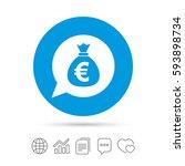money bag sign icon. euro eur... | Shutterstock .eps vector #593898734
