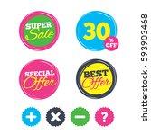 super sale and best offer... | Shutterstock .eps vector #593903468