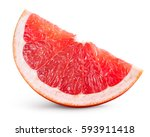 grapefruit isolated on white... | Shutterstock . vector #593911418