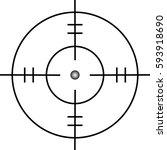 target icon  sight sniper... | Shutterstock .eps vector #593918690