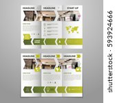 brochure flyer template... | Shutterstock .eps vector #593924666