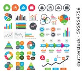business charts. growth graph.... | Shutterstock .eps vector #593924756