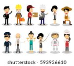 people group different... | Shutterstock .eps vector #593926610