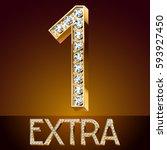 vector chic font luxury... | Shutterstock .eps vector #593927450