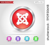 colored icon or button of... | Shutterstock .eps vector #593930648