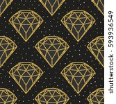 seamless pattern of geometric... | Shutterstock .eps vector #593936549