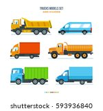 trucks models set concept....