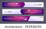 abstract banners. vector eps10... | Shutterstock .eps vector #593938190