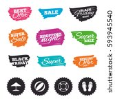 ink brush sale banners and... | Shutterstock .eps vector #593945540