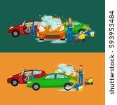 car wash services  auto... | Shutterstock . vector #593953484