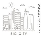 vector city and town... | Shutterstock .eps vector #593953868